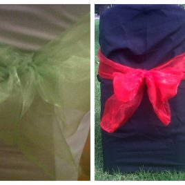Chair Tiebacks Organza