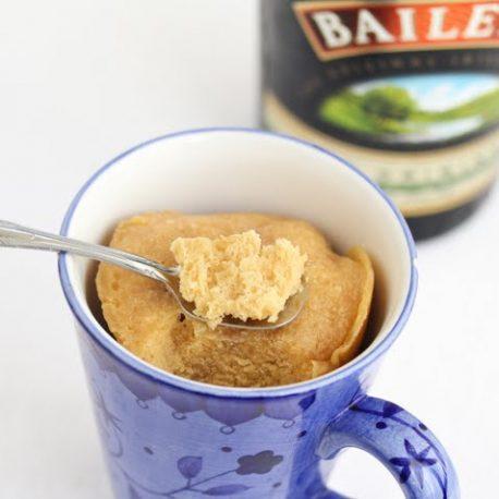 Drunken Cake in a Mug