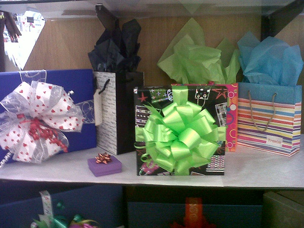 Bows Boxes Bags Wrap and Tissue Paper