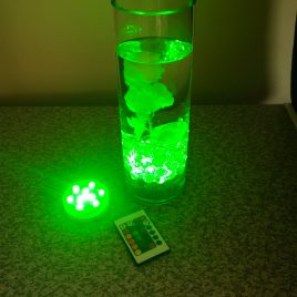 Submersible light with remote (7cm)