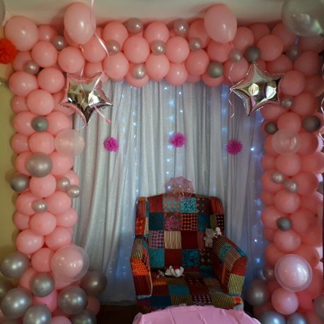 Balloon Arch Organic Square