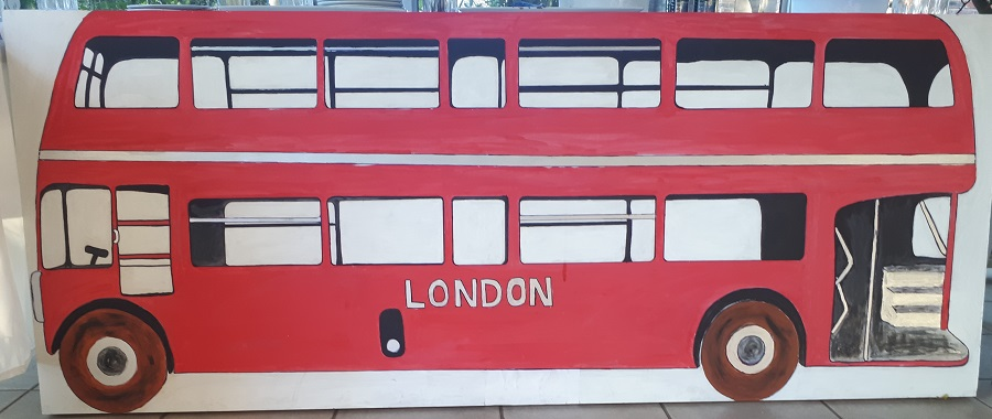 London Bus Prop 200cm X 81cm