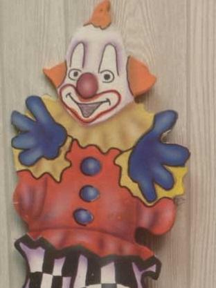 Tall Clown Cutout Trim