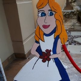 Alice in Wonderland polystyrene