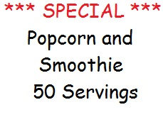 *** Special *** Popcorn and Smoothie
