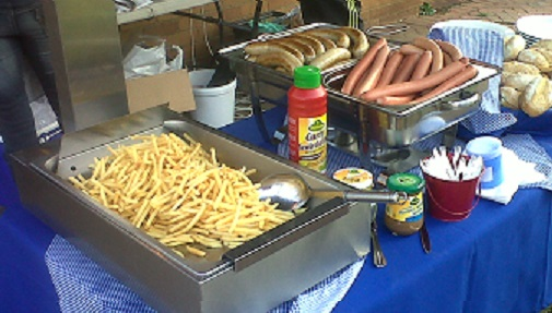 German Sausage and Chips