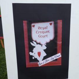 Alice Croquet Sign