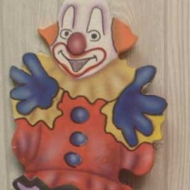Cut Out Clown on stilts including stand